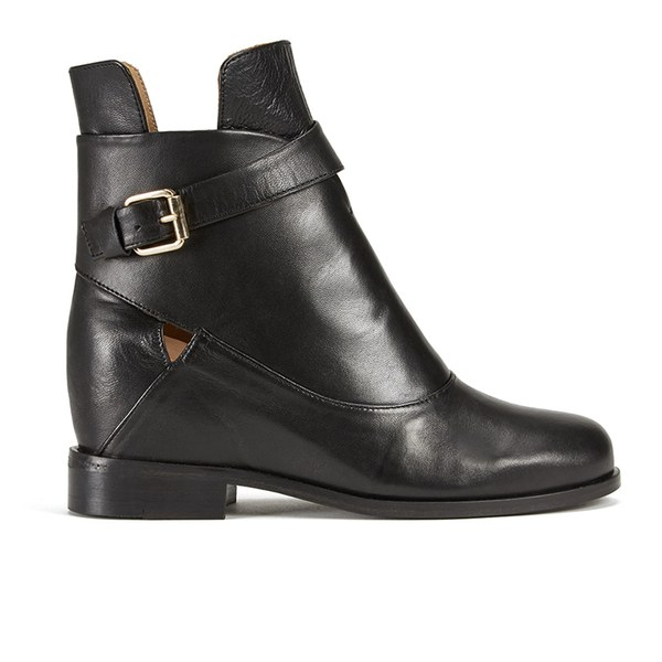 Thakoon Addition Women's Fiona 02 Leather Ankle Boots - Black ...