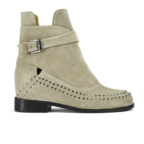Thakoon Addition Women's Fiona 02 Suede Ankle Boots - Grey Suede Studs