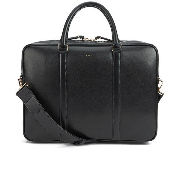 Paul Smith Accessories Men's City Embossed Medium Folio Laptop Bag - Black