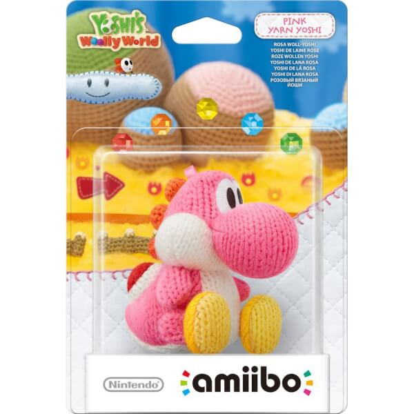 Pink Yarn Yoshi amiibo (Yoshi's Woolly World Collection)