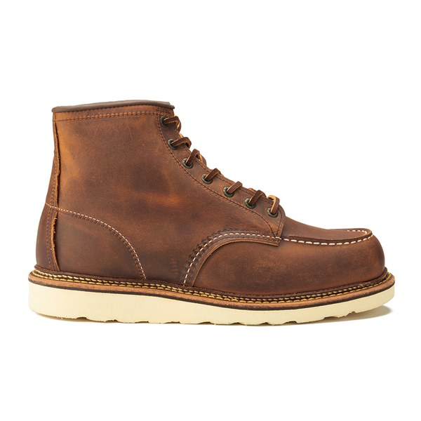 Red Wing Men's 6 Inch Moc Toe Double Welt Leather Lace Up Boots - Copper Rough and Tough