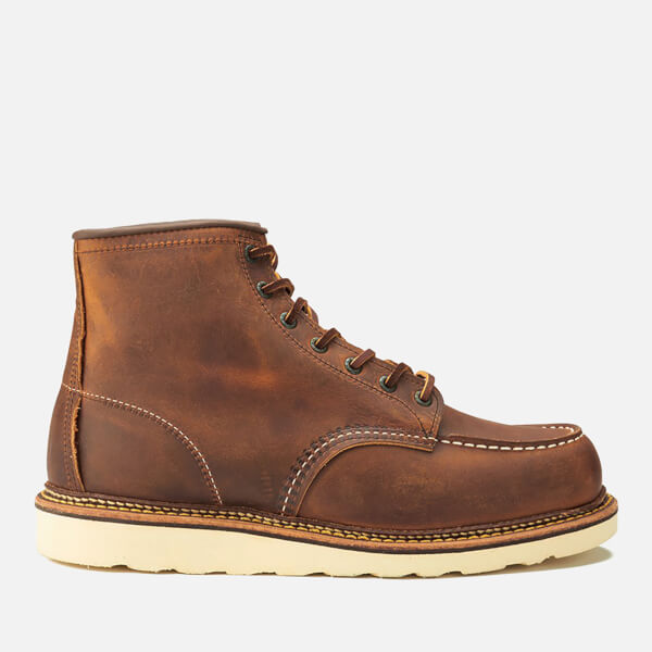 4900e7bf0e2c Red Wing Men s 6 Inch Moc Toe Double Welt Leather Lace Up Boots - Copper  Rough