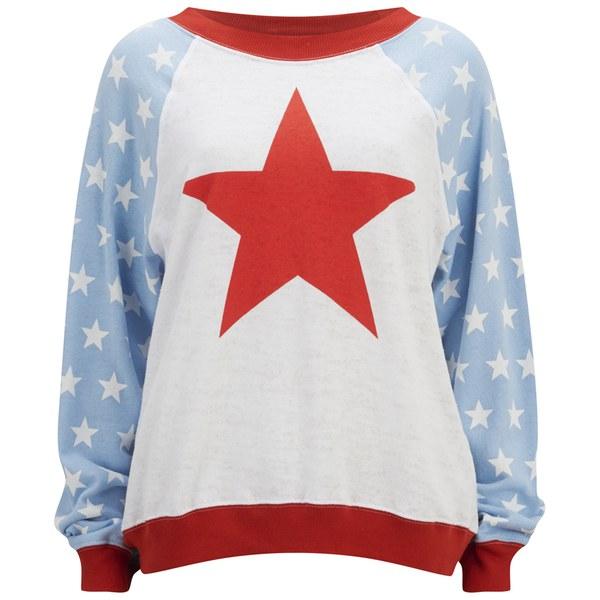 Wildfox Women's 'For President' Star Sweatshirt - Multi