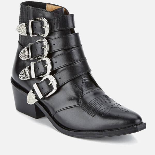TOGA PULLA Women's Buckle Side Leather Heeled Ankle Boots Best Cheap Online Discount Best Wholesale Sale Shopping Online kCVNxWODn
