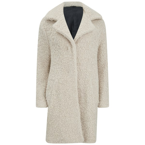 Karl Lagerfeld Women's Denise Long Egg Coat - Vanilla