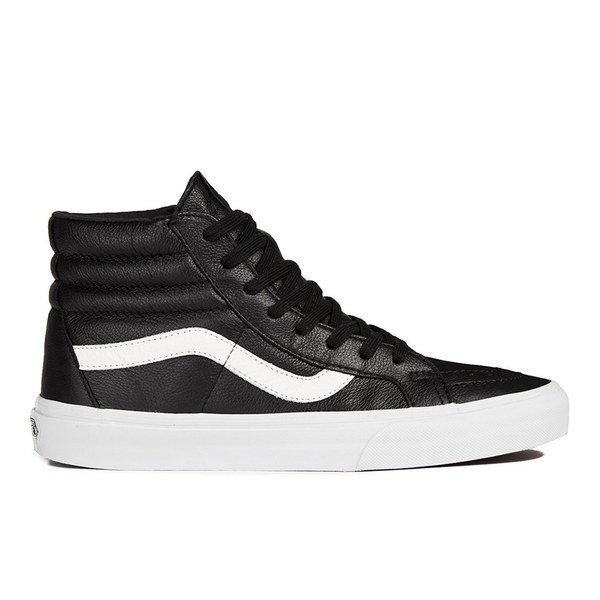 Vans Men's SK8-Hi Reissue Premium Leather Hi-Top Trainers - Black