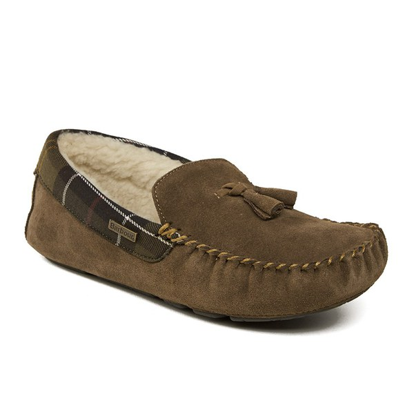 Barbour Women S Alice Suede Moccasin Slippers Tan Free