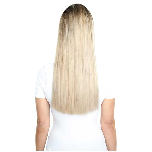 Beauty Works Deluxe Clip In Hair Extensions 18 Inch Champagne