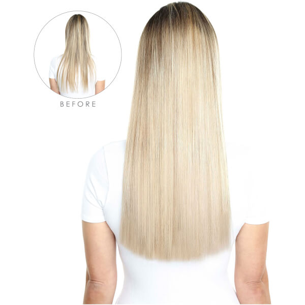 Beauty Works Deluxe Clip In Hair Extensions 18 Inch Vintage Blonde