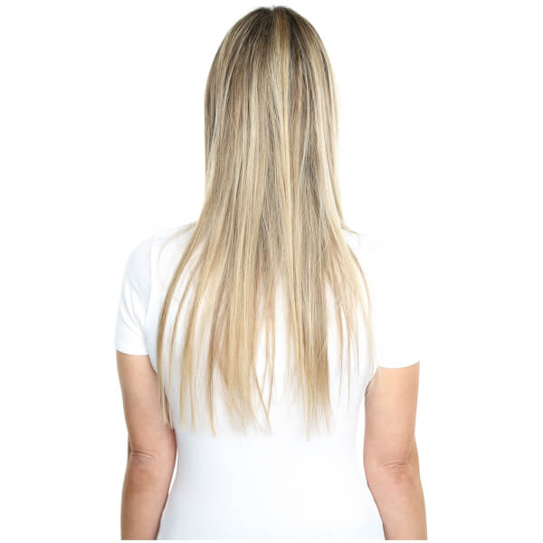 Beauty Works Deluxe Clip In Hair Extensions 18 Inch Tanned Blonde