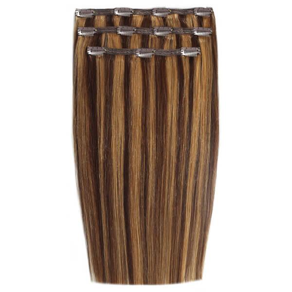 Extensions de cheveux à clip Deluxe 18 pouces de Beauty Works - Blondette 4/27