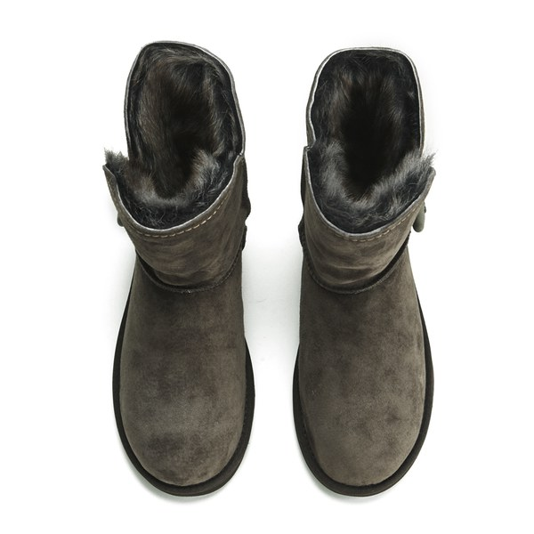 UGG Women's Meadow Fold Over Sheepskin Boots Chocolate: Image 2