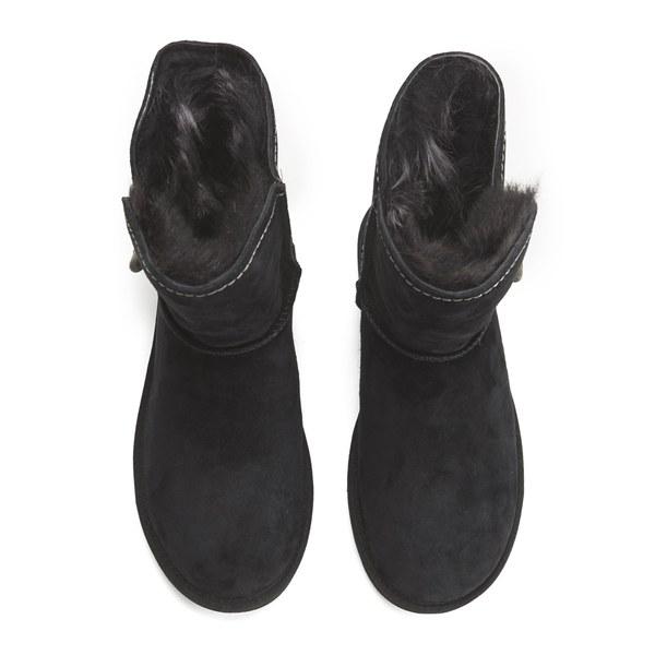 Ugg Women S Meadow Fold Over Sheepskin Boots Black