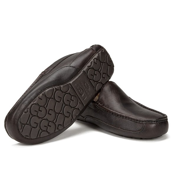 223ddba71603 UGG Men s Ascot Grain Leather Slippers - China Tea  Image 6