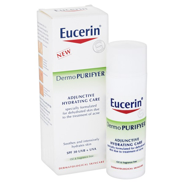Crema Eucerin® Dermo PURIFYER Adjunctive Hydrating Care SPF 30 UVB + UVA (50ml)