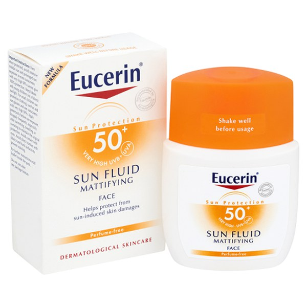 eucerin sun protection sun fluid mattifying face spf50. Black Bedroom Furniture Sets. Home Design Ideas
