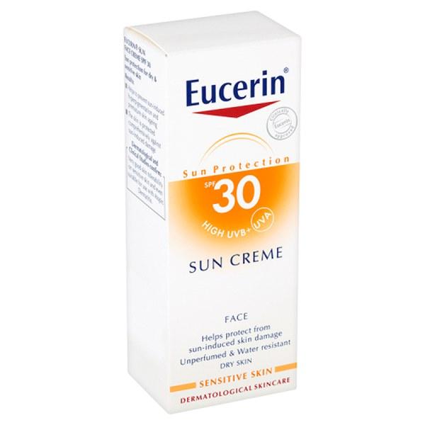 eucerin sun protection solaire spf 30 cr me visage 50ml livraison internationale gratuite. Black Bedroom Furniture Sets. Home Design Ideas
