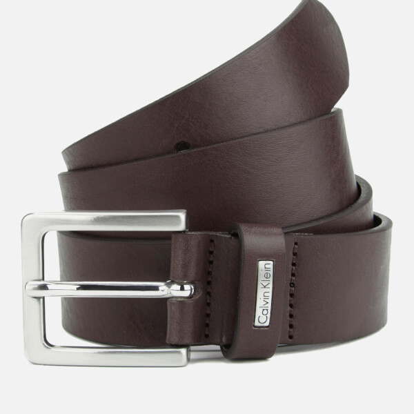 Calvin Klein Men's Mino Mino Leather Belt - Brown