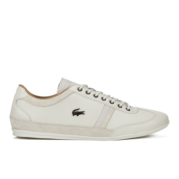 ed733f398d83 Lacoste Men s Misano 36 Leather Suede Trainers - Off White  Image 1