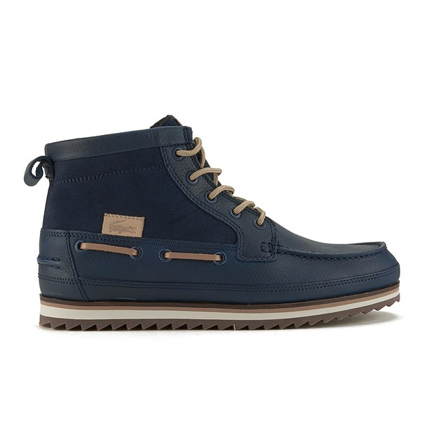 Lacoste Men S Sauville Mid 8 Leather Suede Chukka Boots Navy