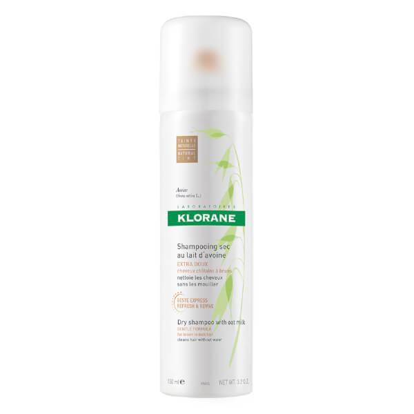 KLORANE Oatmilk Dry Shampoo Spray for Brown Hair (150ml)