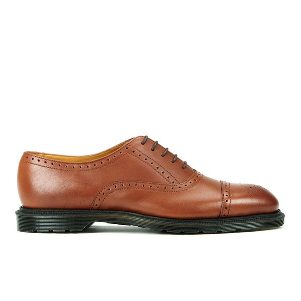 Dr. Martens Men's Henley Morris Temperley Leather Brogues - Oak: Image 1