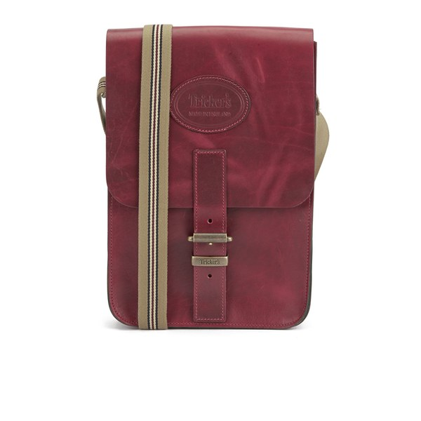 Tricker's Men's Small Leather Satchel Bag - Lollipop Red - Free UK ...