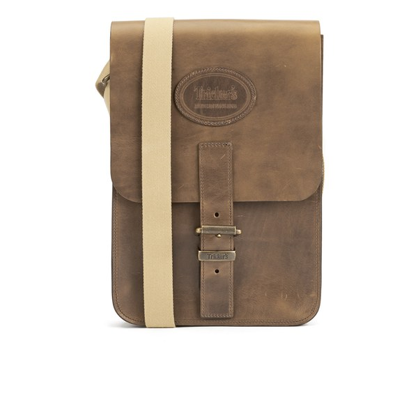 Tricker's Men's Small Leather Satchel Bag - Wheat Cavalier