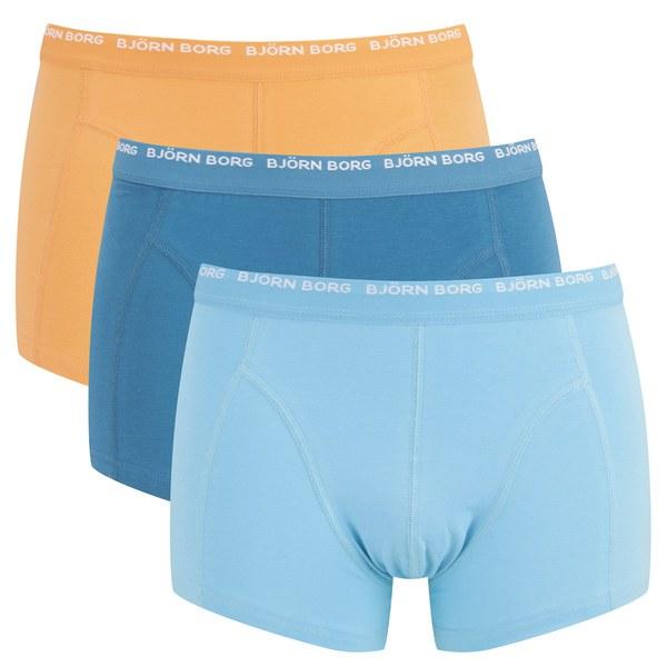 bjorn borg men 39 s 3 pack boxer shorts blue grotto mens underwear. Black Bedroom Furniture Sets. Home Design Ideas
