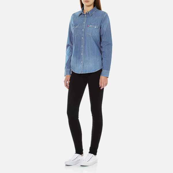 Levi 39 s women 39 s modern sawtooth relaxed fit shirt ritter for Levis vintage denim shirt 1950 sawtooth slim fit