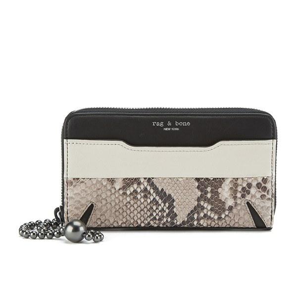 rag & bone Women's Devon Mobile Zip Wallet - Fawn Python
