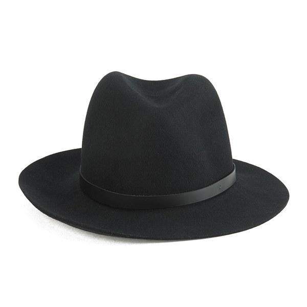 rag & bone Women's Floppy Brim Fedora Hat - Black