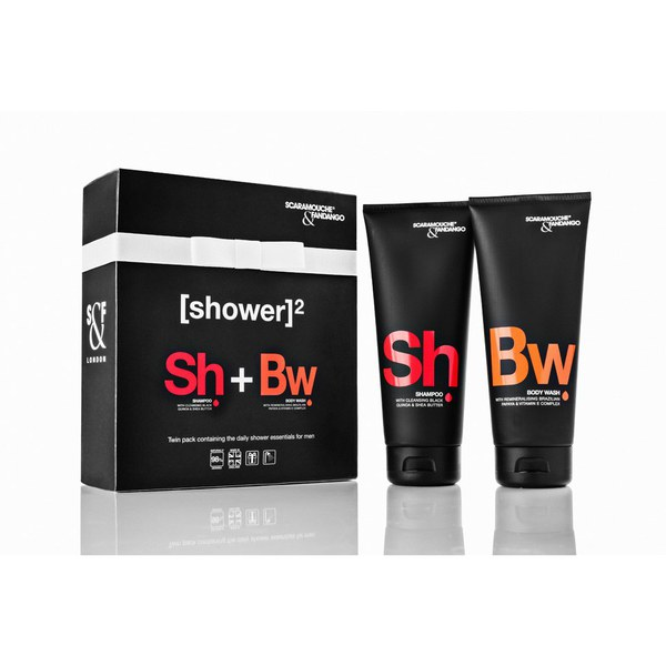 Scaramouche & Fandango Men's Shower Twin Pack.