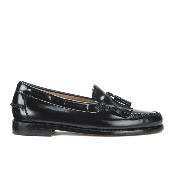 Bass Weejuns Women's Kiltie Leather Moc Tassle Loafers - Black