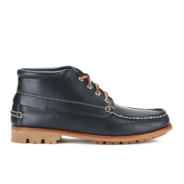 G.H. Bass Men's Ranger Leather Moc Montgomery Mid Boots - Navy