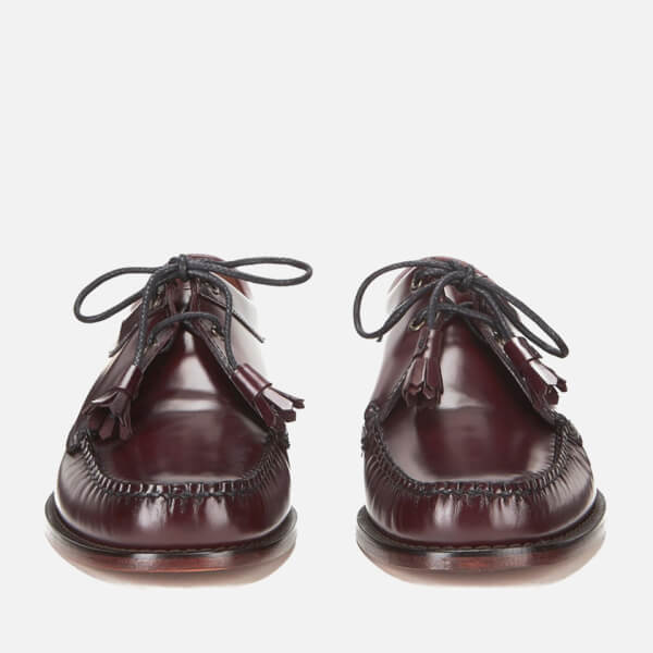 55ed68c8145 Bass Weejuns Men s Lace Up Leather Loafers - Wine  Image 4