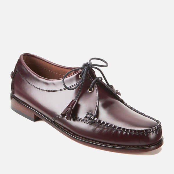 48040642247 Bass Weejuns Men s Lace Up Leather Loafers - Wine  Image 5
