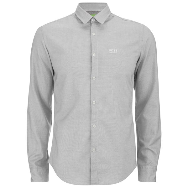BOSS Green Men's C Buster Chest Logo Long Sleeve Shirt - Light ...