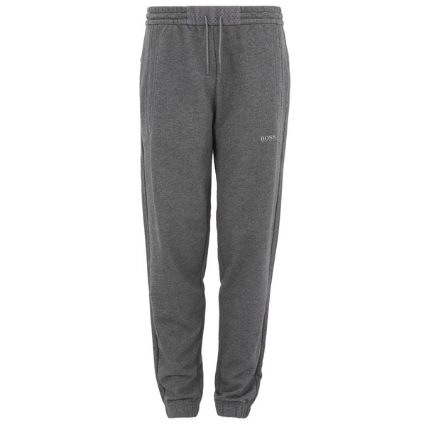 BOSS Green Men's Halko Mesh Detail Joggers - Grey Melange