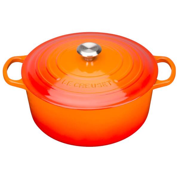 Le Creuset Signature Cast Iron 20cm Round Casserole Dish, 2.4L - Volcanic