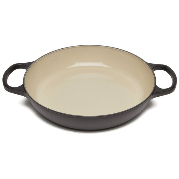 Le Creuset Signature Cast Iron Shallow Cerole Dish 26cm Satin Black Image 4