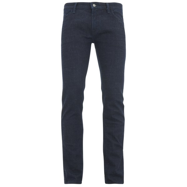 BOSS Orange Men's Tapered Fit Unwashed Denim Jeans - 407 Blue