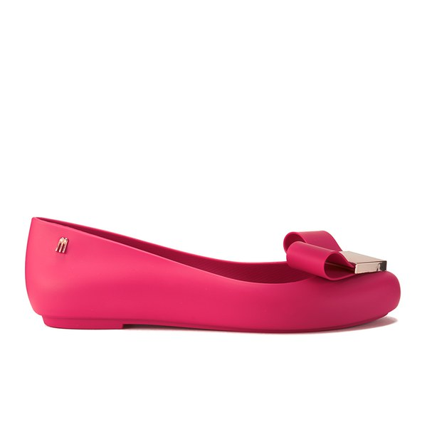 Melissa Women s Space Love Bow Ballet Flats - Pink - Free UK ... 7c981c1e6a