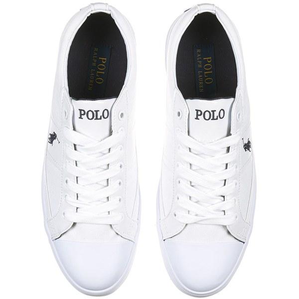 Polo Ralph Lauren Men\u0027s Churston-Ne Canvas Trainers - Pure White: Image 2