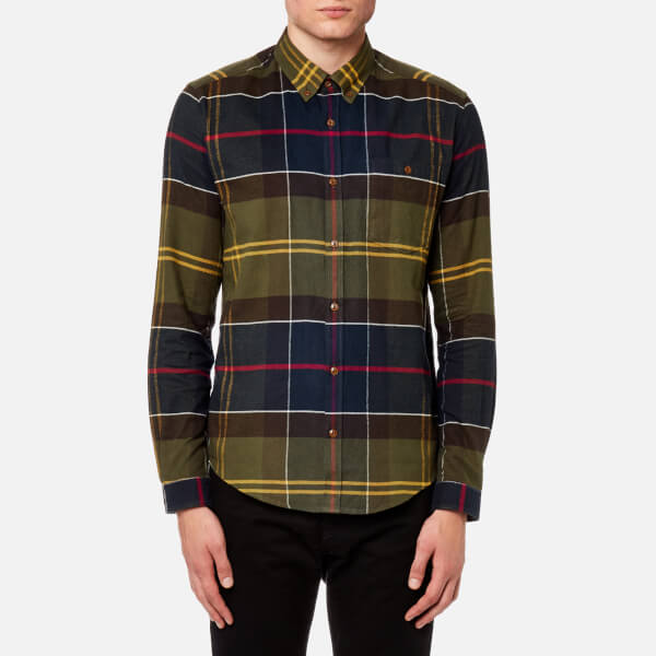 Barbour Heritage Men's Johnny Tartan Long Sleeve Shirt - Moss Green