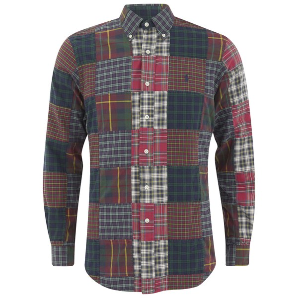 Polo Ralph Lauren Men's Patchwork Long Sleeve Shirt - Brownstone