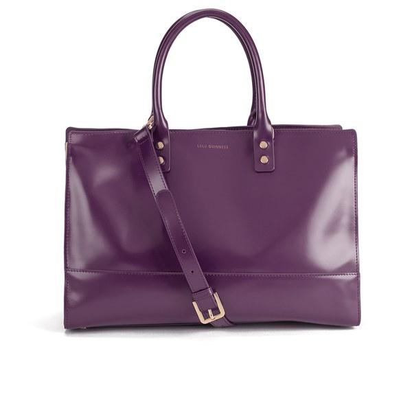 Lulu Guinness Women's Daphne Smooth Leather Medium Tote Bag - Damson