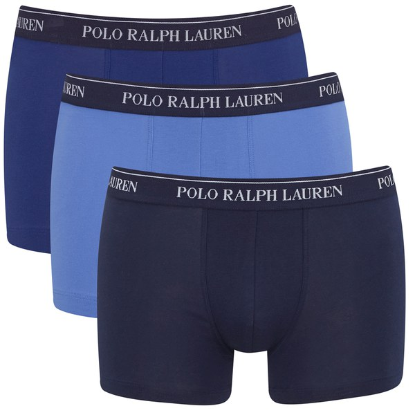 polo ralph lauren men 39 s 3 pack trunk boxer shorts blue. Black Bedroom Furniture Sets. Home Design Ideas