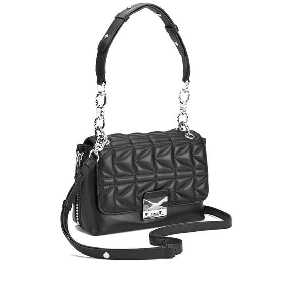 K/Kuilted Mini Handbag - Black Karl Lagerfeld uZJt2iqx