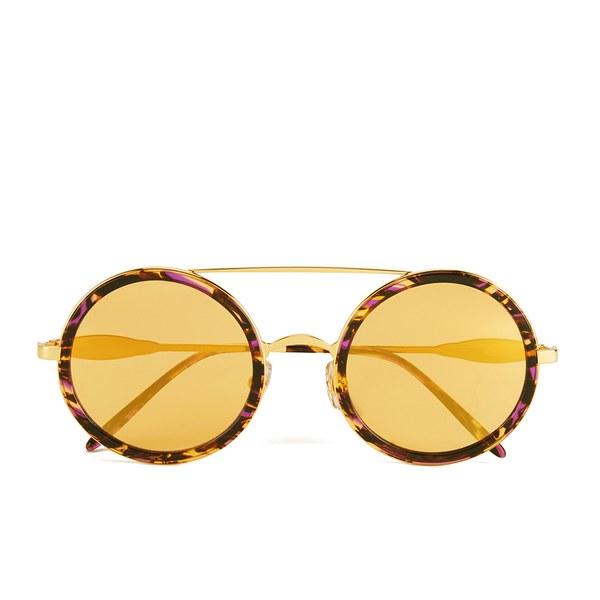 Wildfox Women's Winona Deluxe Sunglasses - Montage Hold/Yellow Gold Mirror